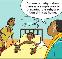 Dehydration results when the body loses more liquid than it takes in.